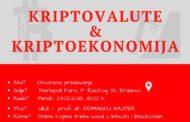 Uvod u kriptovalute i kriptoekonomiju 23.02. u Križevcima