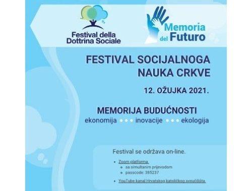 Prvi Festival socijalnog nauka Crkve, 12.03.21.